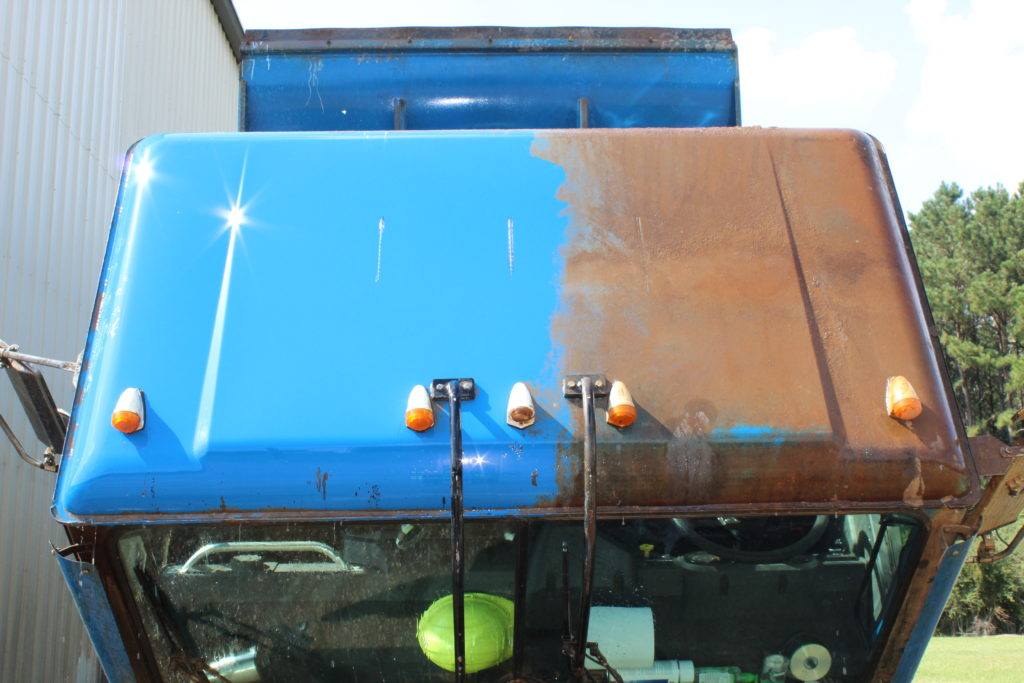 Blue Truck Washed with Rust Buster